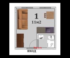 Квартира, студия, 11.5 м²